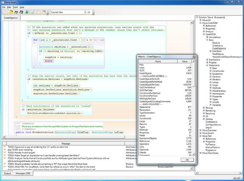 Free download C# Parser and CodeDOM