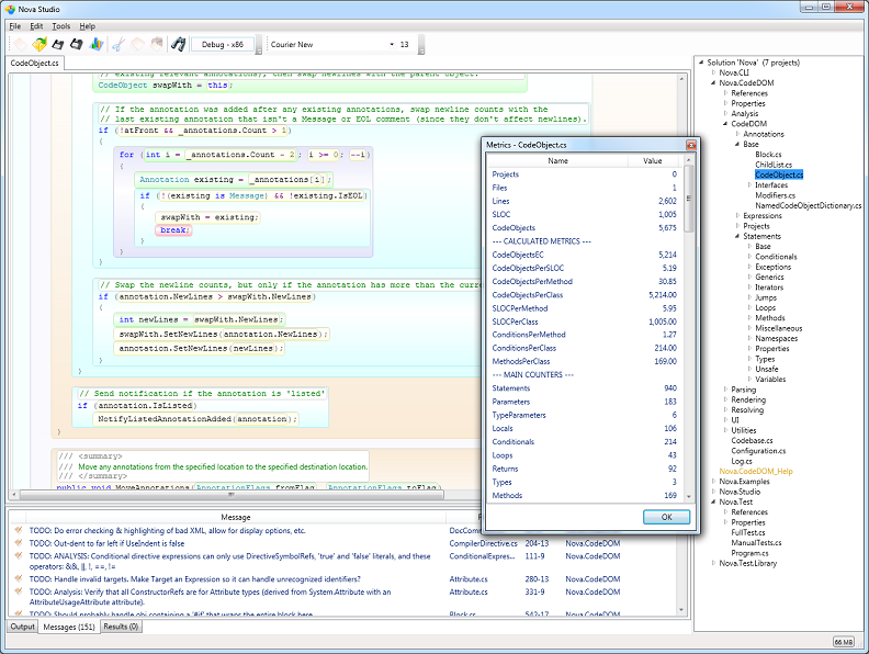 Click to view C# Parser and CodeDOM 4.0 screenshot